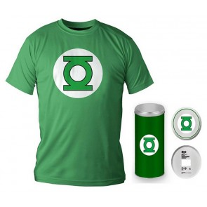 T-Shirt Dc Comics Green Lantern Logo Green Boy Deluxe (Taglia Medium)