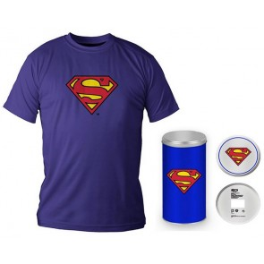 T-Shirt Dc Comics Superman Logo Blue Boy Deluxe (Taglia Extra Large - XL)
